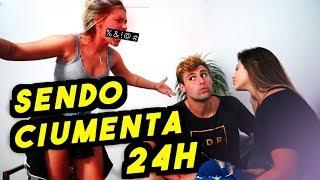 24H SENDO CIUMENTA COM MEU NAMORADO!! (TROLLEI O REZENDEEVIL)