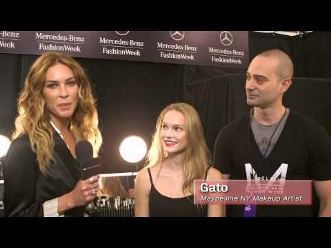Erin Wasson: Maybelline - Live from the Runway, Fashion and Makeup at Carlos Miele Spring 2013