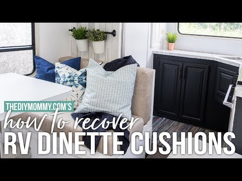 How To Recover Rv Dinette Cushions Our Diy Camper Youtube