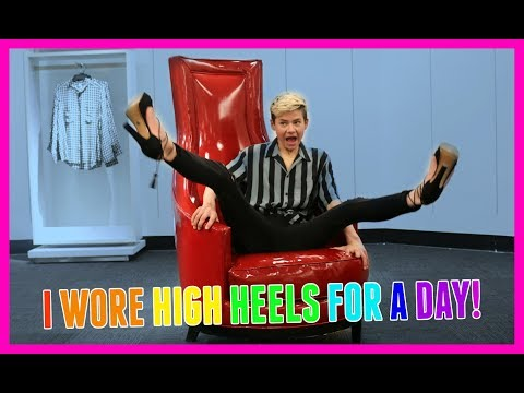 I WORE HIGH HEELS FOR A DAY! Jake Warden