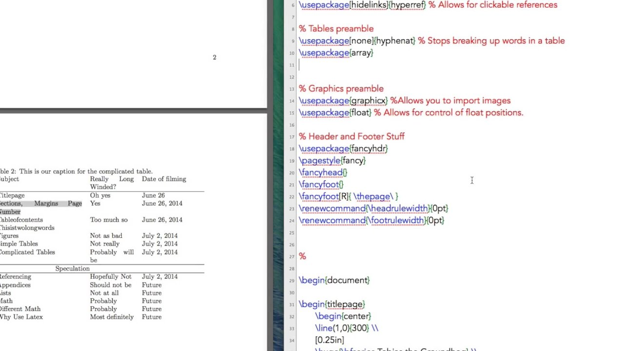 Latex Tutorial 6 of 11: Importing Data into Latex, Table Formatting ...