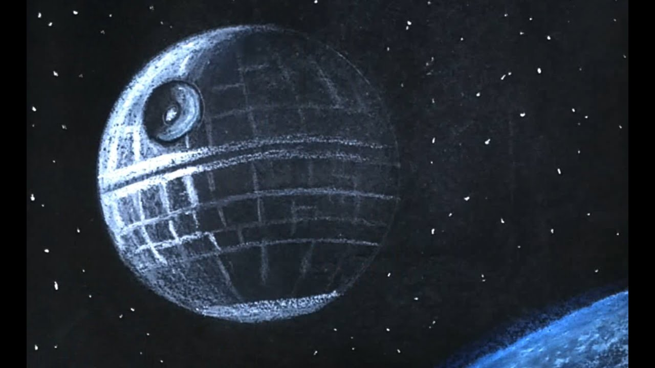 how to draw the death star from star wars youtube. Black Bedroom Furniture Sets. Home Design Ideas