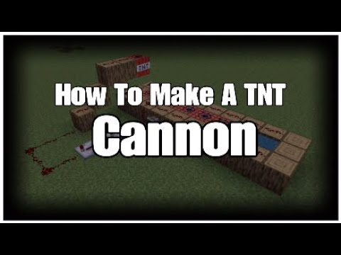 How To Make A TNT Cannon In Minecraft (PS3/4 Xbox One/360 PC 3DS PE)
