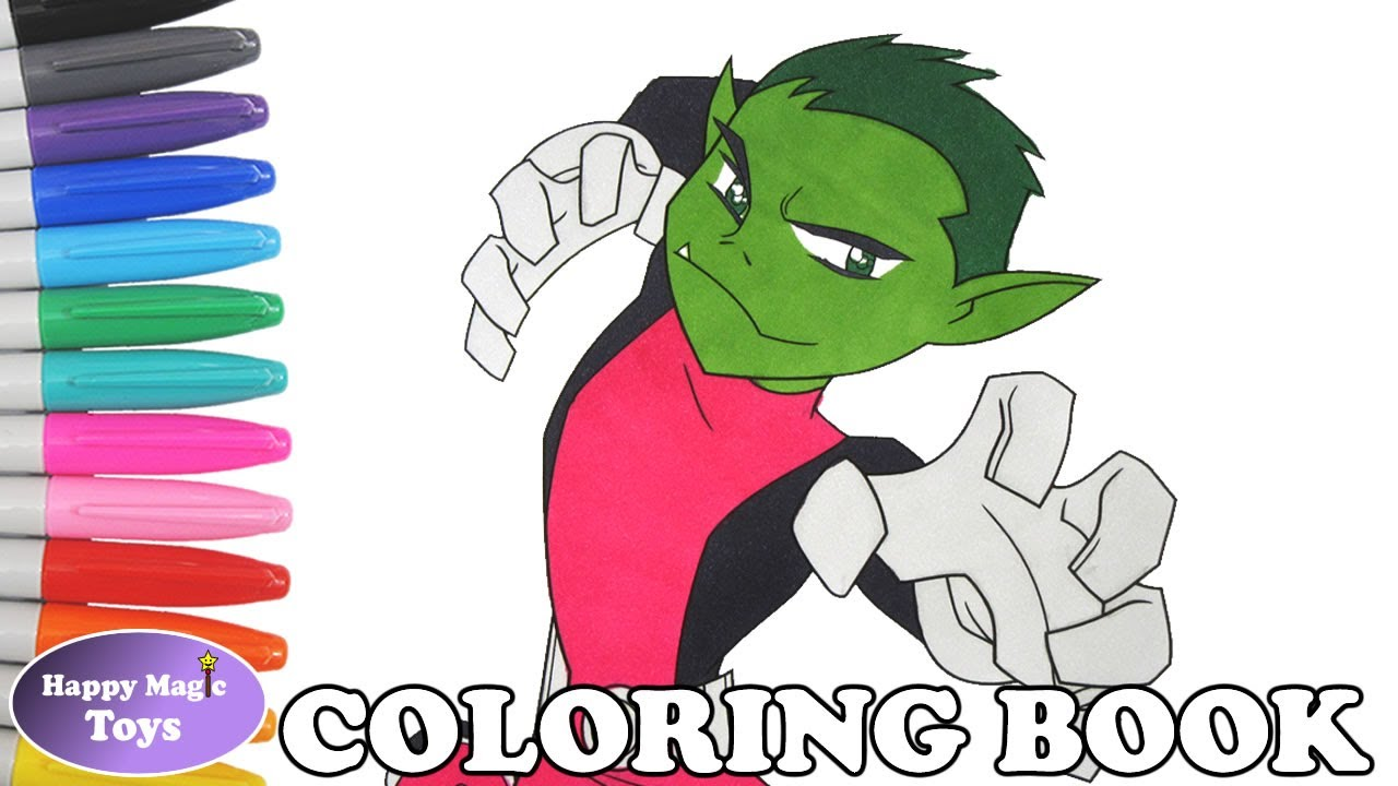 Teen Titans Beast Boy Coloring Book Pages Teen Titans Beast Boy ...