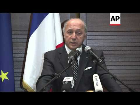 Fabius calls for a non-violent Ukraine transition, comments on Chinese investment in France