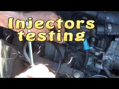How to test common rail diesel  injectors