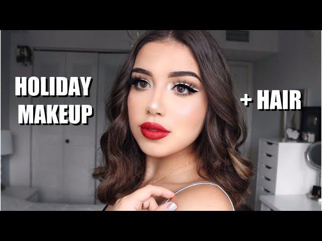 Holiday Makeup + Hair Tutorial | Amanda Diaz