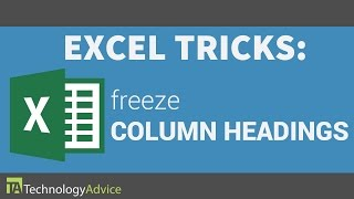 Excel Tricks - Freeze the Column Headings