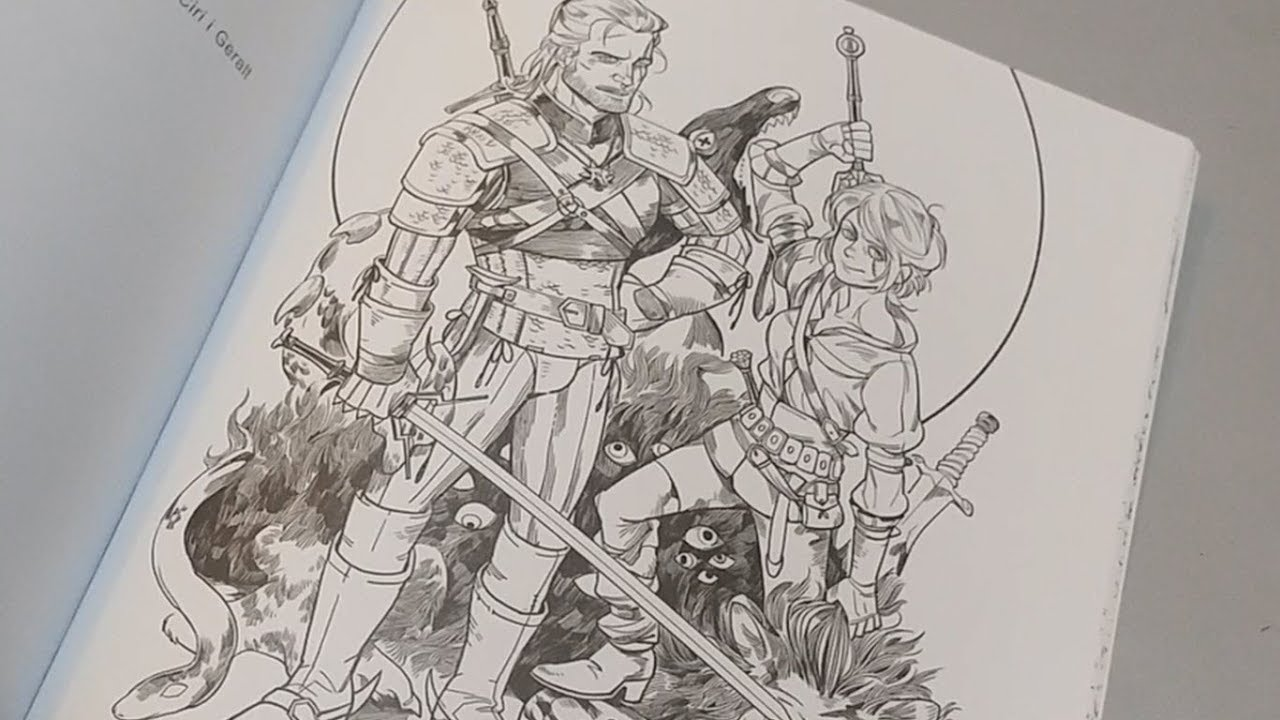 the witcher 3 adult coloring book unboxing and presentation