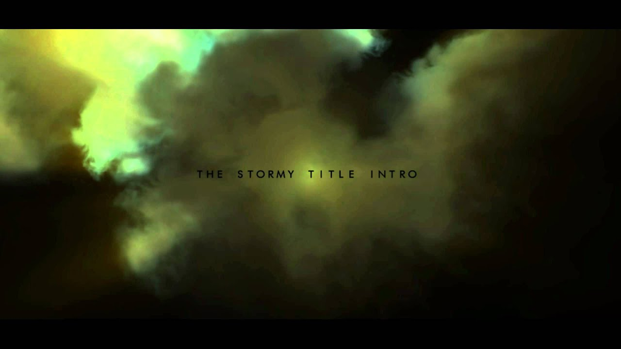 free after effects cs4 template (the stormy title intro) - youtube, Powerpoint templates