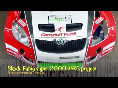 Skoda Fabia Super 2000 WRC Rally Car Project For Sale With Mikeedge.co.uk
