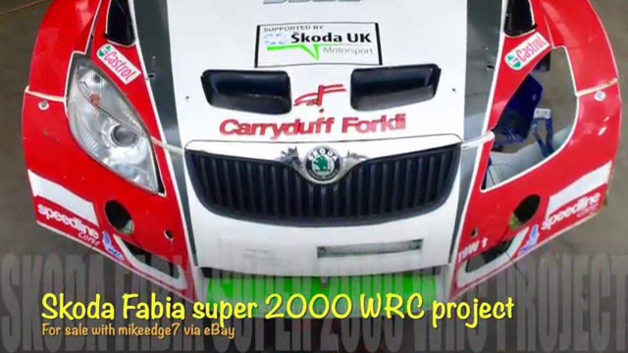 Skoda fabia super 2000 WRC rally car project for sale with mikeedge ...