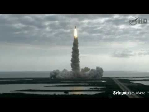 Nasa shuttle Endeavour blasts off from Kennedy Space Station in Florida on final mission to space