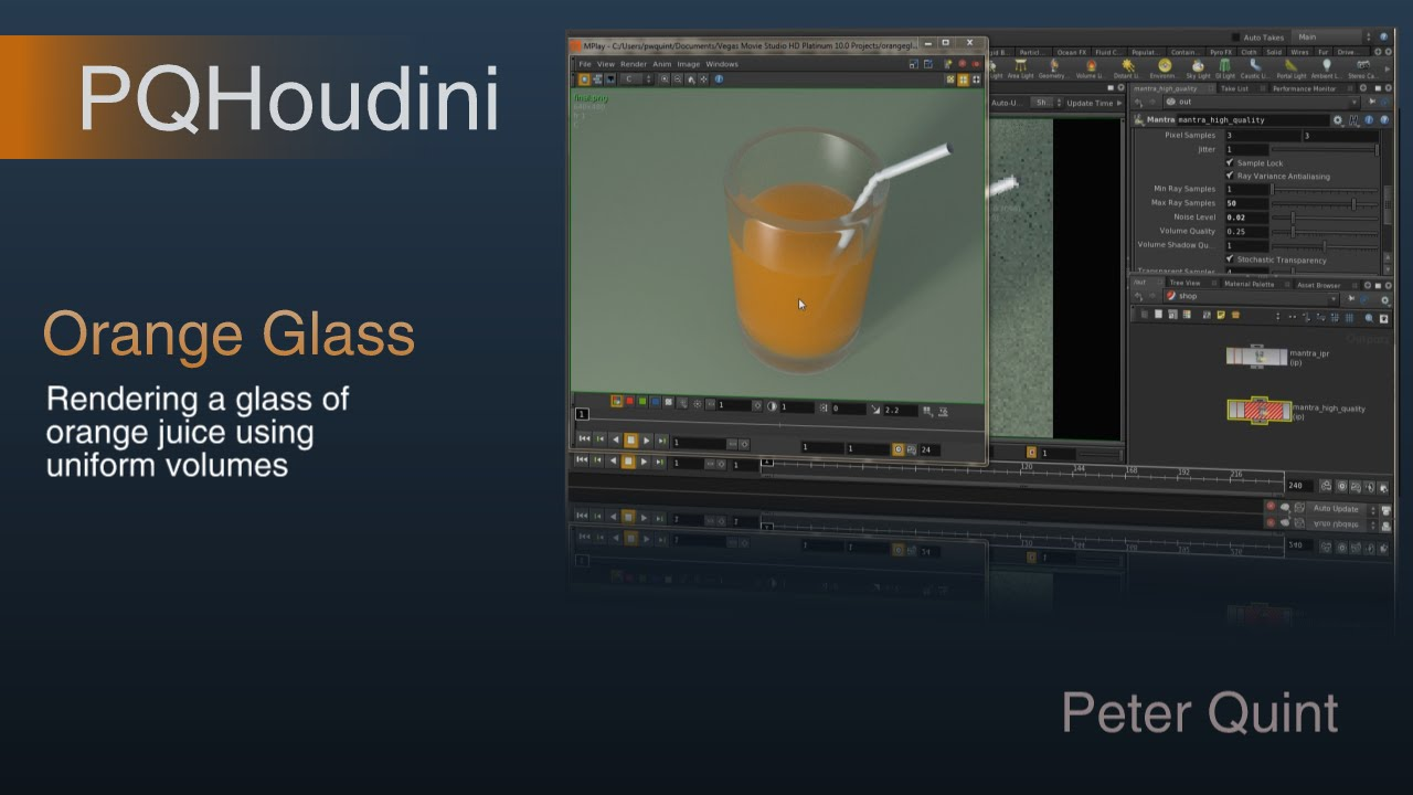 Houdini Orange Glass