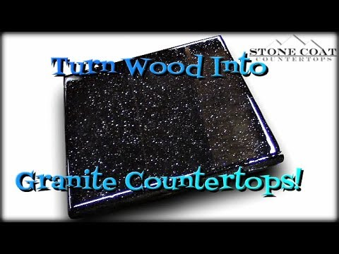 kitchen countertop storage sink cabinets turn wood into granite countertops - youtube