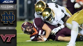 Notre Dame vs. Virginia Tech Full Game | 2018 ACC Football