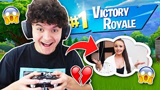 IF YOU WIN FORTNITE, My Little Sister will MOVE INTO THE FAZE HOUSE!!