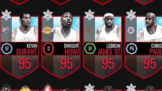 MY RARE CARD COLLECTION!! BEST BENCH IN NBA LIVE MOBILE!!