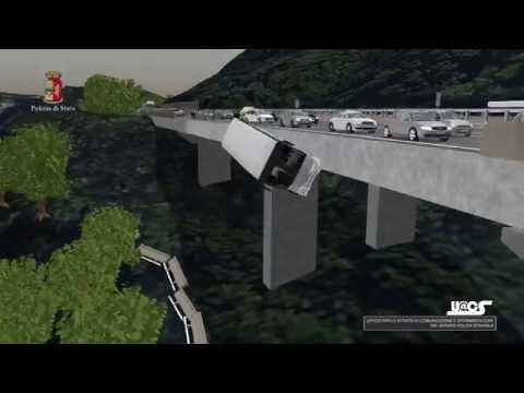 Incidente A16 Bus cade da Scarpata - Animazione 3D Ricostruzione