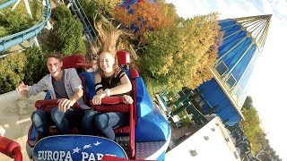 Euro-Mir! Weird But AWESOME Roller Coaster! Multi Angle POV Europa Park Germany
