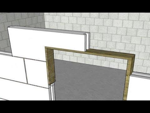 Дверная перемычка в газоблоке
