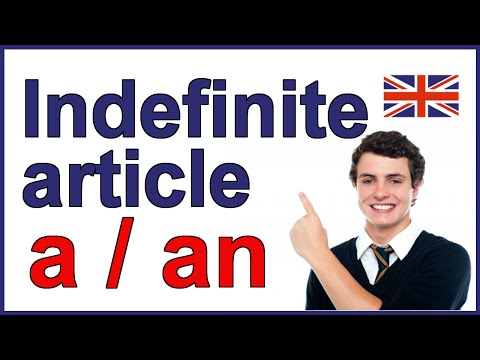 Indefinite article in English -