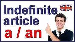 """Indefinite article in English - """"a"""" and """"an"""""""