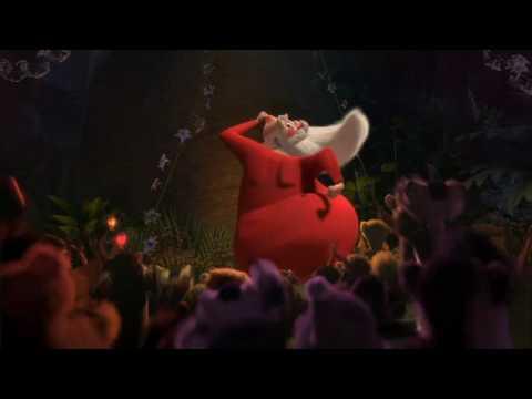 Crazy Santa dancing