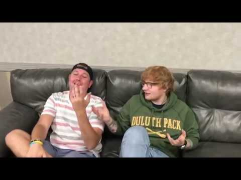Ed Sheeran Backstage At Allstate Arena
