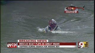 Chopper 9 Exclusive: Rescue boat capsizes