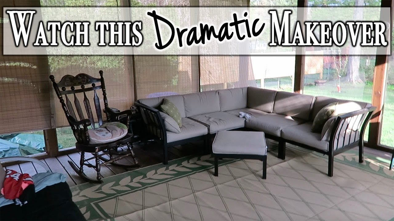 dramatic transformation of a screened in porch diy makeover project