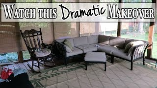 Dramatic Transformation of a Screened in Porch ~ DIY Makeover Project