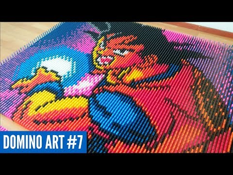 HUGE GOKU MADE FROM 6,400 DOMINOES | Domino Art #7