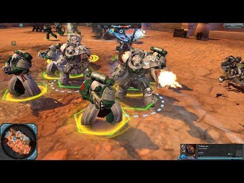 Space Marines (Dark Angels) vs Orks - Dawn Of War 2: Retribution - SupaEpicFun Mod