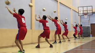 Passing volleyball drill