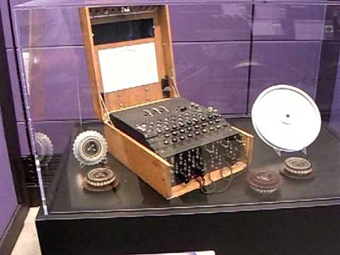 Enigma encryption machine used by Germany in WW II