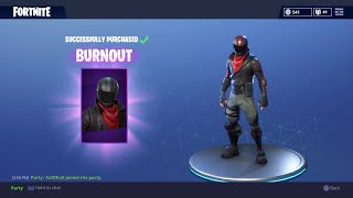 "*NEW* FORTNITE SKIN ""BURNOUT"" GAMEPLAY - LEVEL 65, 4000+ KILLS"