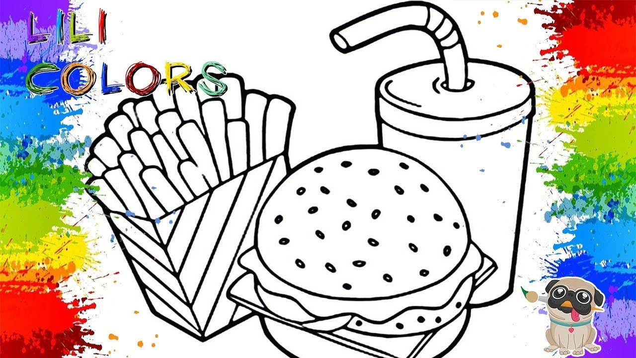 Colorindo Um Maravilhoso Lanche Desenhos De Hamburger Svideo Para