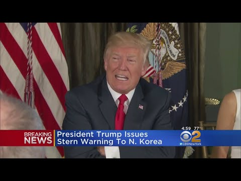 President Trump Issues Stern Warning For North Korea
