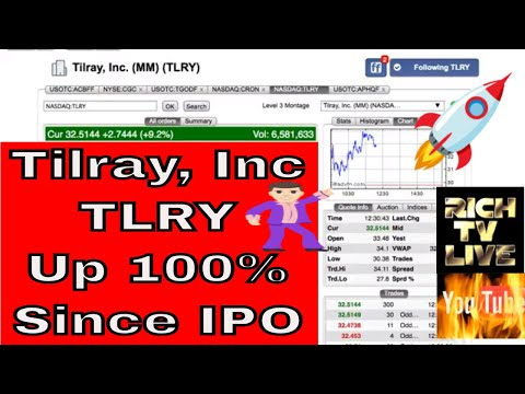 Tilray Inc. (TLRY) Up Almost 100% Since IPO On The NASDAQ 3 Days Ago 🚀