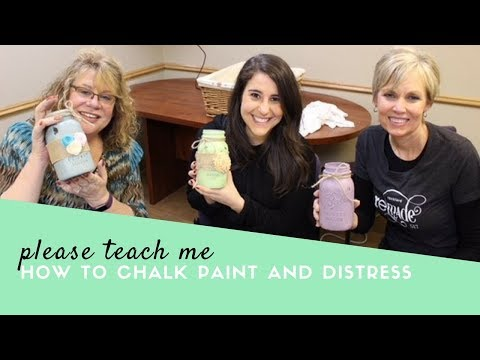 How to Chalk Paint and Distress Mason Jars