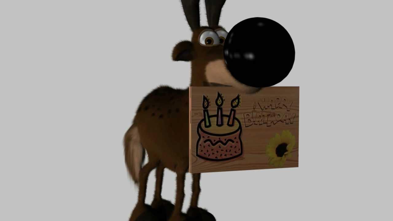 Happy Birthday Short Animation Blender Youtube