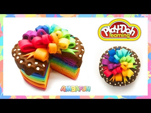 Play Doh Videos. How to make Play Doh Birthday Cake, Cupcake with Bow. Rainbow Art. DIY for kids