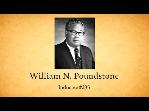 William Poundstone - National Mining Hall of Fame Inductee #235