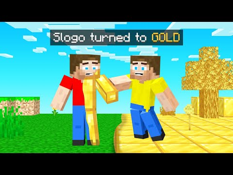 What You TOUCH TURNS TO GOLD In Minecraft!