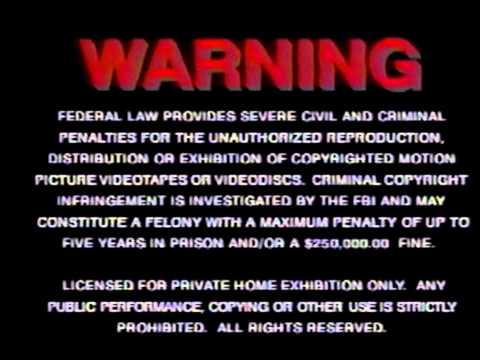 Federal Copyright Warning