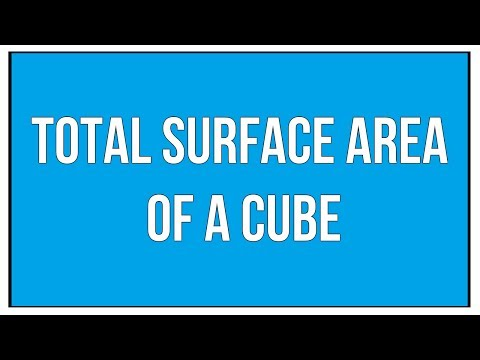 Total Surface Area Of A Cube / Maths Mensuration