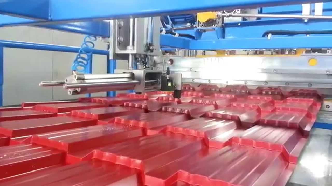 Оборудование для производства металлочерепицы типа Каскад .