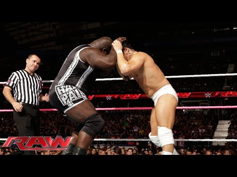 Mark Henry vs. Bo Dallas: Raw, Sept. 29, 2014