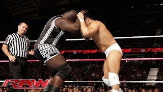 Mark Henry vs. Bo Dallas: Raw, Sept. 29, 2014